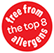 free from top 8 allergens certification