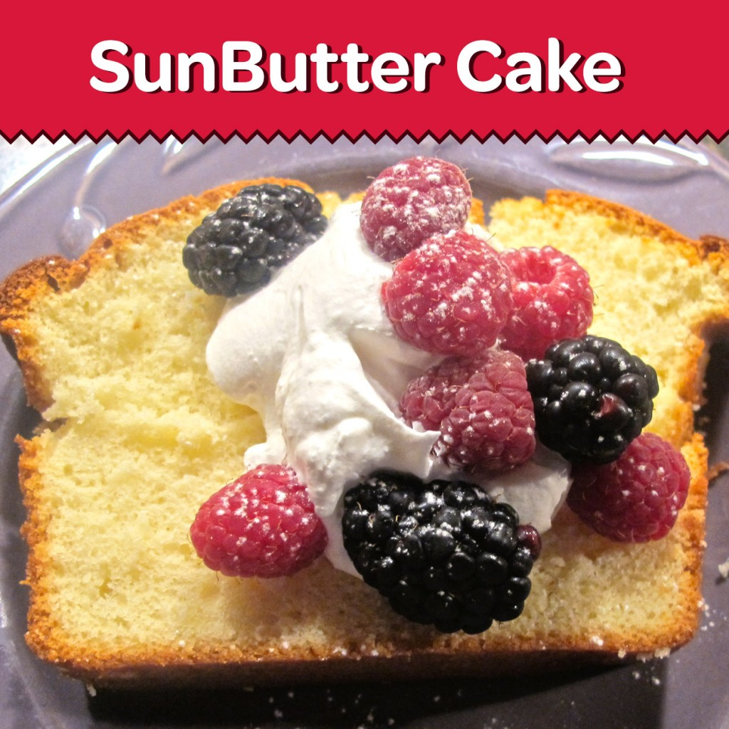 Similar to a traditional pound cake, this SunButter Cake is lovely with berries for a brunch or picnic.