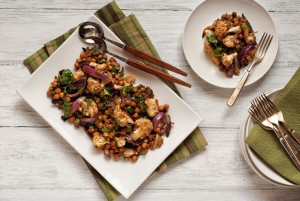 Roasted Tai Cauliflower Salad with Chickpeas