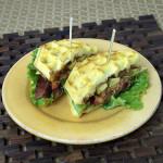 SunButter BLT Waffle Sandwich