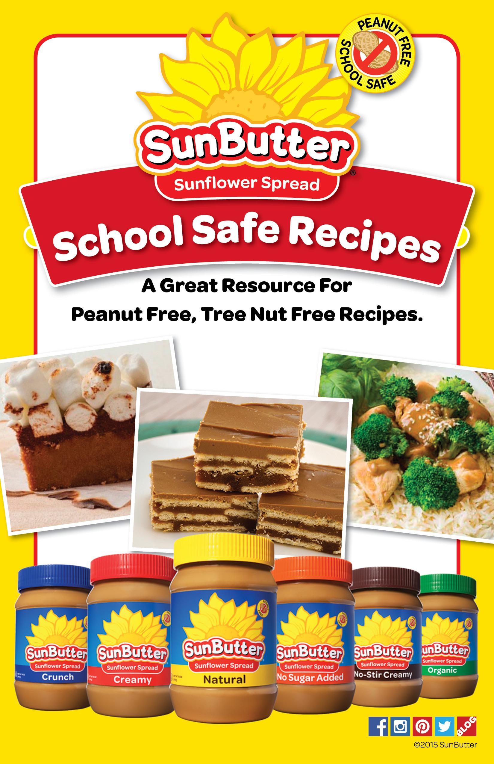 SunButter Peanut Free School Safe Recipe Book