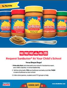 SunButter Parent To School Flyer