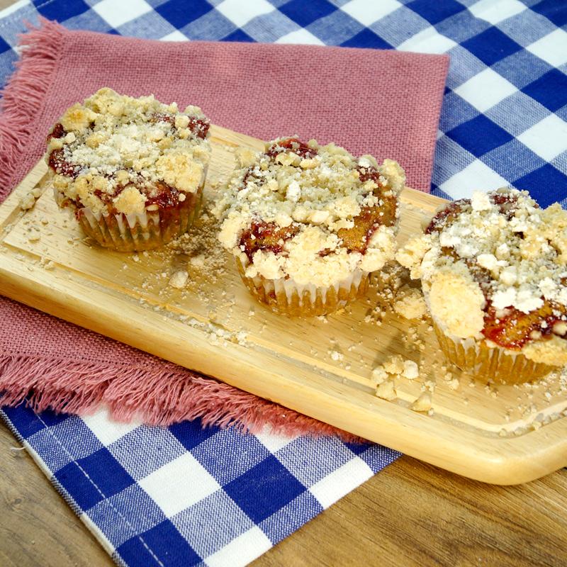 SunButter & Jelly Crumb Muffins
