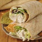 Natural chicken wrap sandwiches with veggie tortilla chips