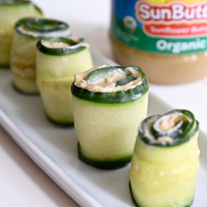 Tahini SunButter Cucumber Roll-Ups - Tasting Page