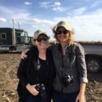 Keeley and Cindy in sunflower fields - photo by NSA