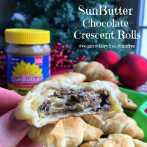 SunButter Chocolate Crescent Rolls - Mamacado