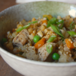 "Cauliflower Fried ""Rice"" with Soy Sunflower Sauce - Megan Shea"
