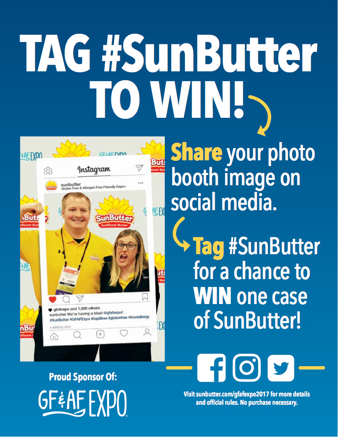 GFAF Expo Tag SunButter to Win photo booth