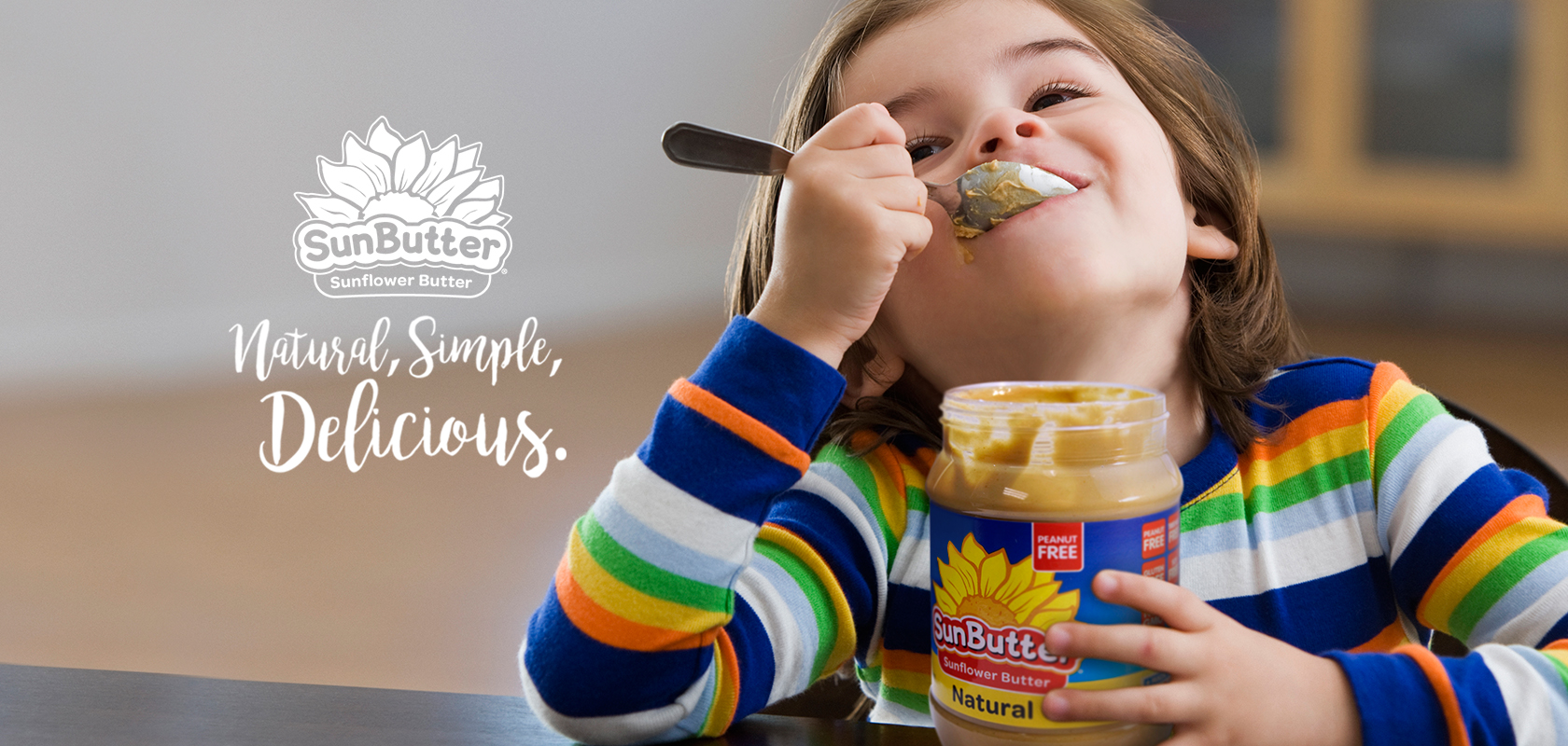 SunButter: Natural, Simple, Delicious.