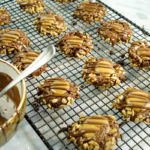 Chocolate Caramel SunButter Thumbprint Cookies