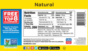 SunButter Natural Nutrition Facts