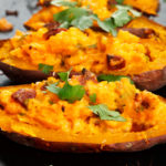 Twice Baked SunButter Sweet Potato