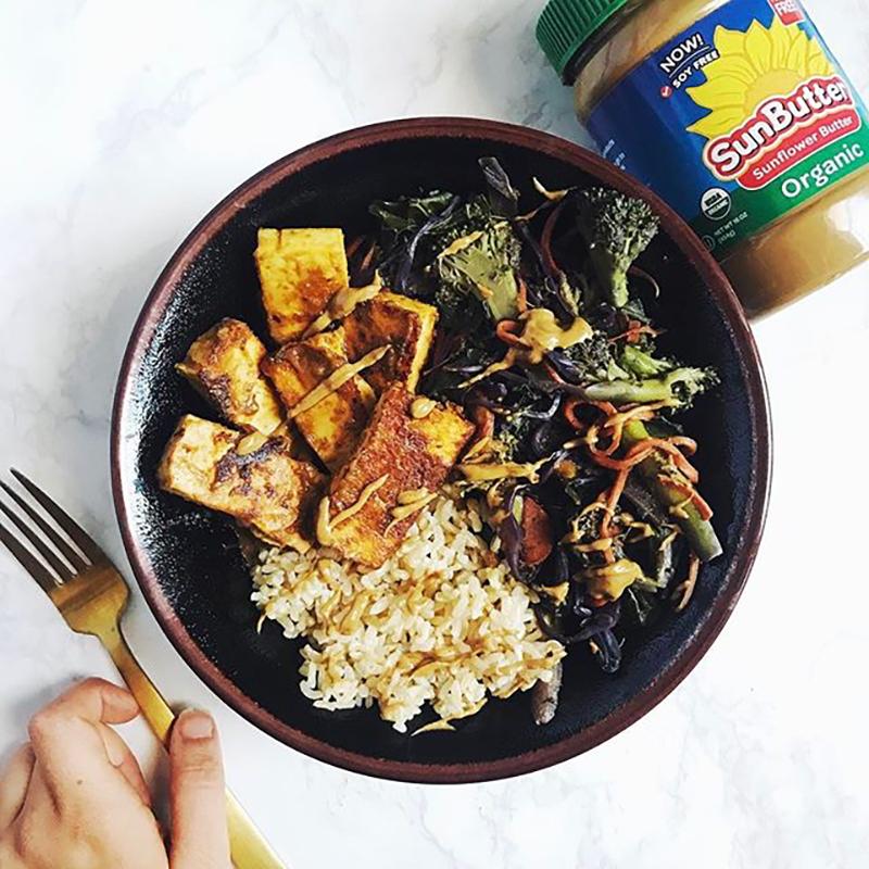 SunButter Veggie & Tofu Bowl