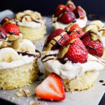 Strawberry Banana Shortcake With SunButter Whipped Cream