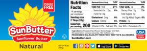 SunButter Natural Label