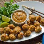 Gluten Free Chicken Meatballs With SunButter Sauce